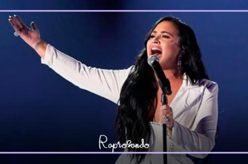 Demi Lovato no palco do Grammys