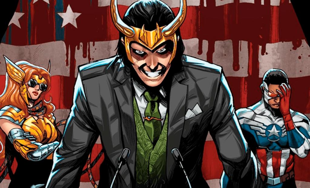 Loki Presidente nas HQs
